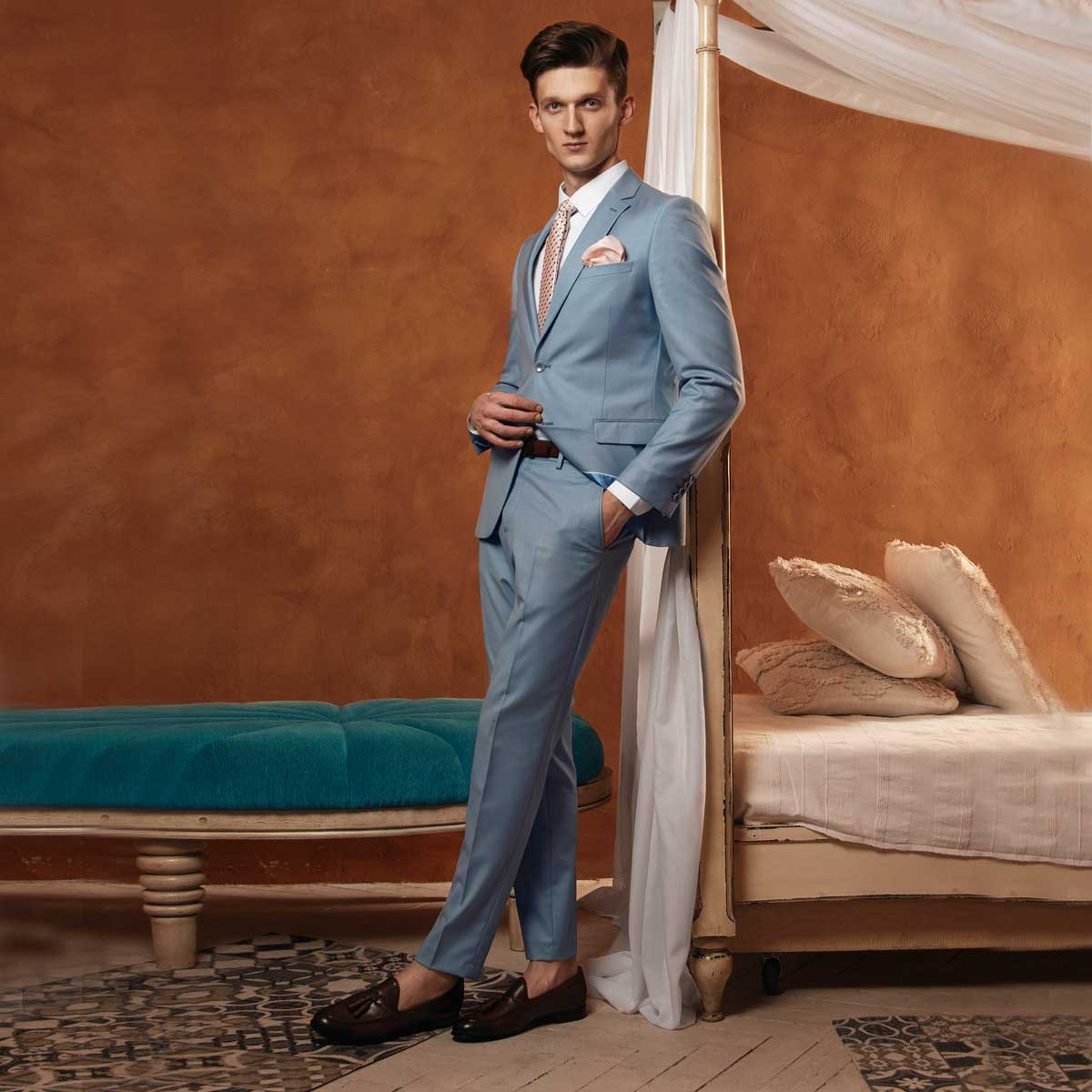 Men's blue suit